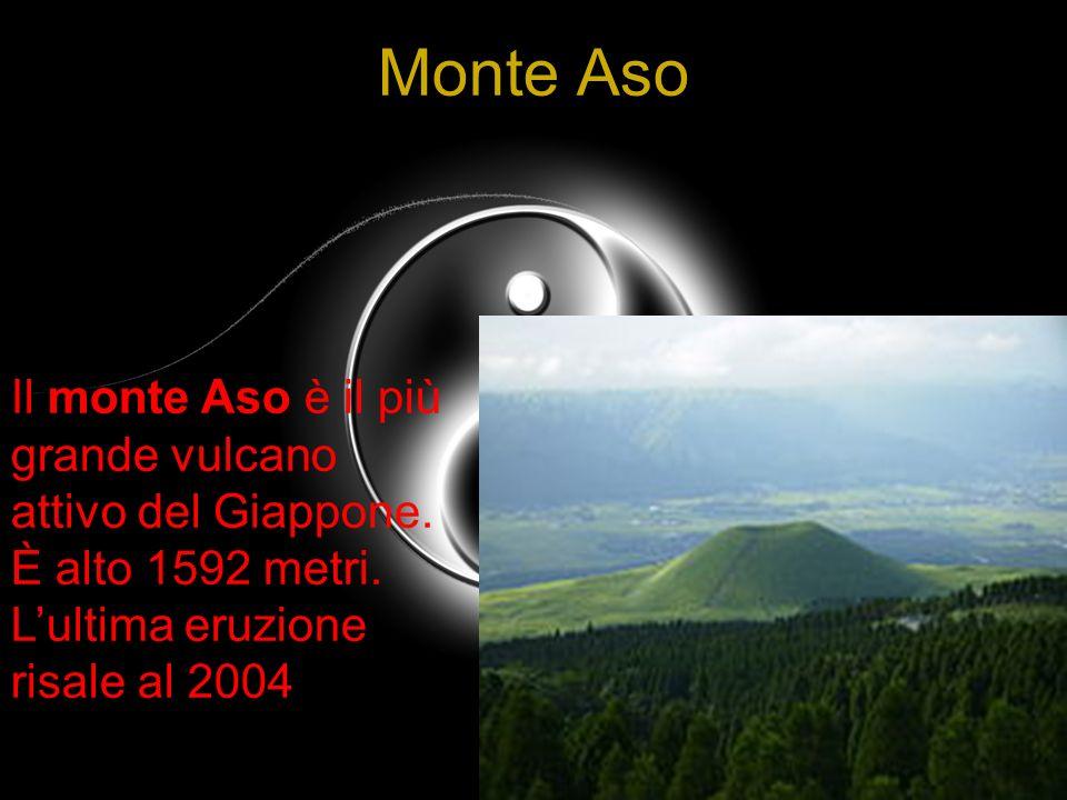 Monte Aso Il monte Aso è il più grande vulcano attivo del Giappone. È alto 1592 metri. Lultima eruzione risale al 2004