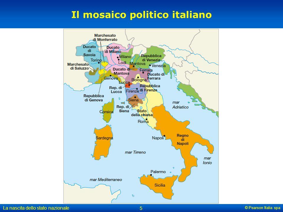 © Pearson Italia spa La nascita dello stato nazionale 5 Il mosaico politico italiano