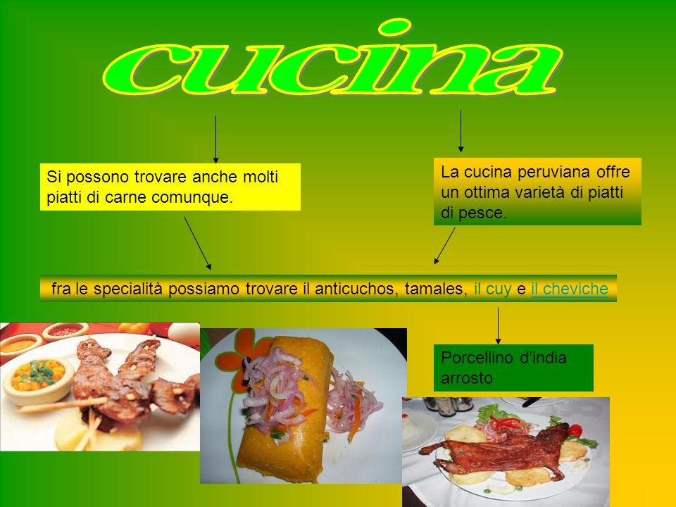 La cucina peruviana offre un ottima varietà di piatti di pesce.