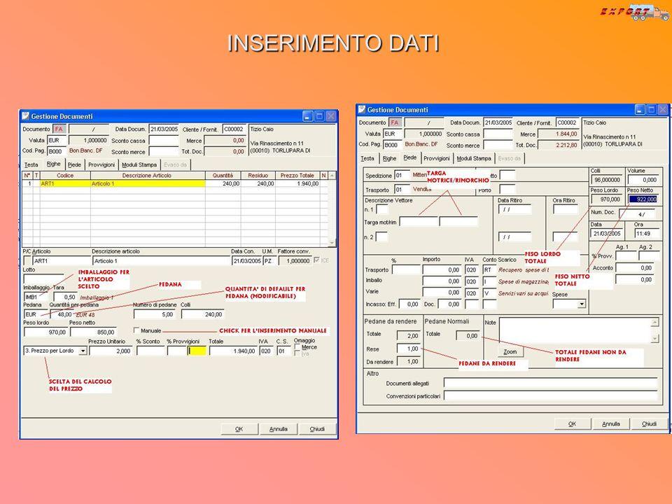 PARAMETRIZZAZIONE DOCUMENTI Dal treeview di sistema impresa si accede alla voce Attiva personalizzazione sui documenti, da cui si può scegliere su qua