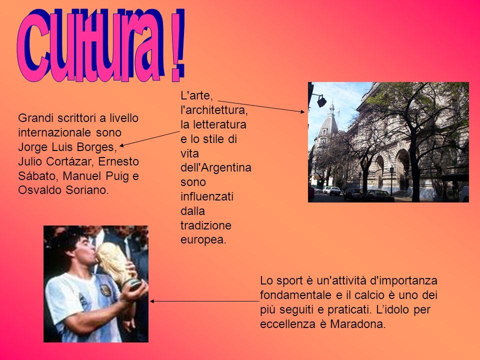 L'arte, l'architettura, la letteratura e lo stile di vita dell'Argentina sono influenzati dalla tradizione europea. Grandi scrittori a livello interna
