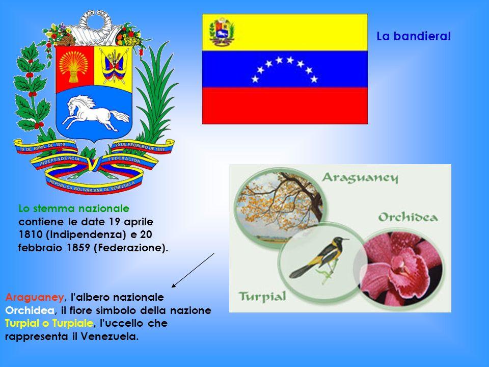 Lo stemma nazionale contiene le date 19 aprile 1810 (Indipendenza) e 20 febbraio 1859 (Federazione). Araguaney, l'albero nazionale Orchidea, il fiore