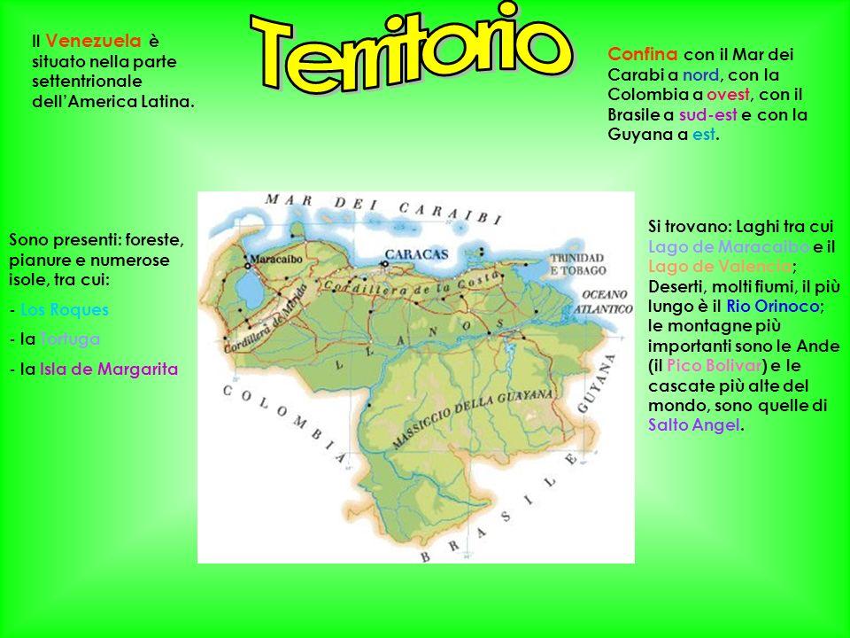 Il Venezuela è situato nella parte settentrionale dellAmerica Latina. Confina con il Mar dei Carabi a nord, con la Colombia a ovest, con il Brasile a