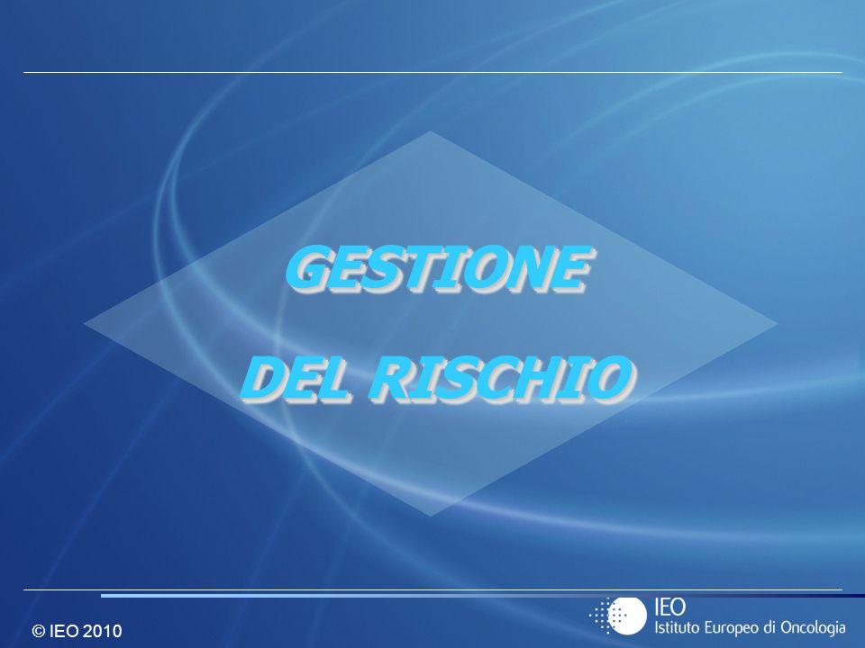© IEO 2010 GESTIONE DEL RISCHIO GESTIONE