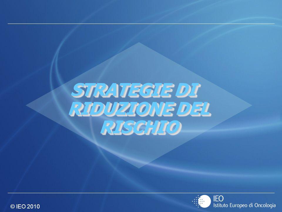 © IEO 2010 STRATEGIE DI RIDUZIONE DEL RISCHIO