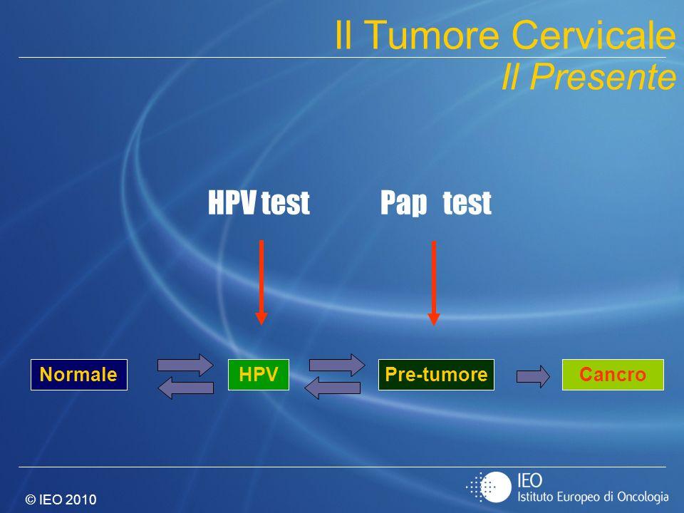 © IEO 2010 NormalePre-tumoreCancro HPV Pap testHPV test Il Tumore Cervicale Il Presente