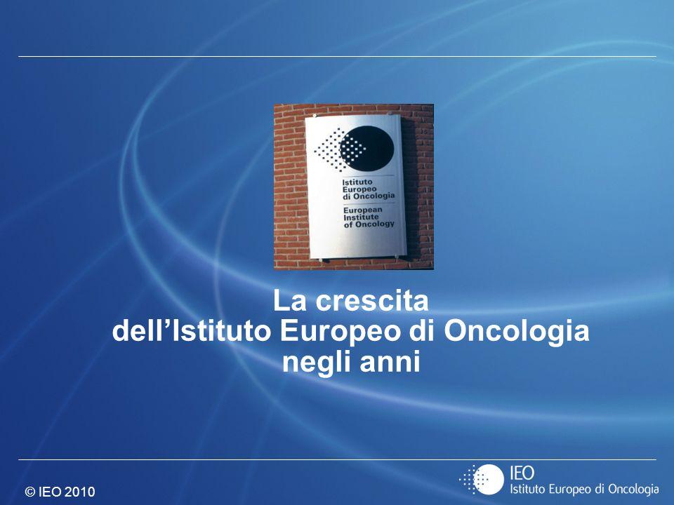 © IEO 2010 La crescita dellIstituto Europeo di Oncologia negli anni