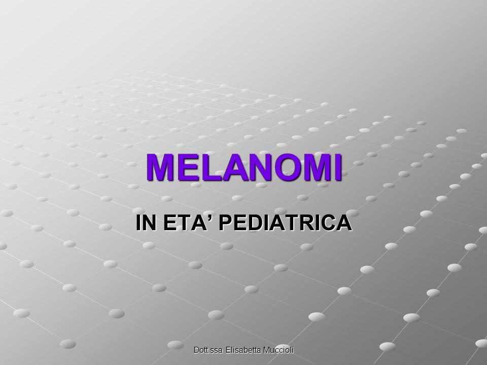 Dott.ssa Elisabetta Muccioli MELANOMI IN ETA PEDIATRICA