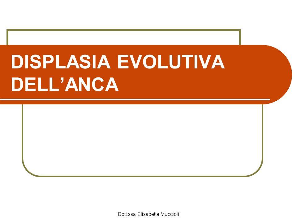 Dott.ssa Elisabetta Muccioli DISPLASIA EVOLUTIVA DELLANCA