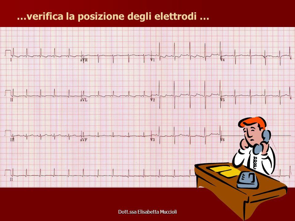 Dott.ssa Elisabetta Muccioli …verifica la posizione degli elettrodi …