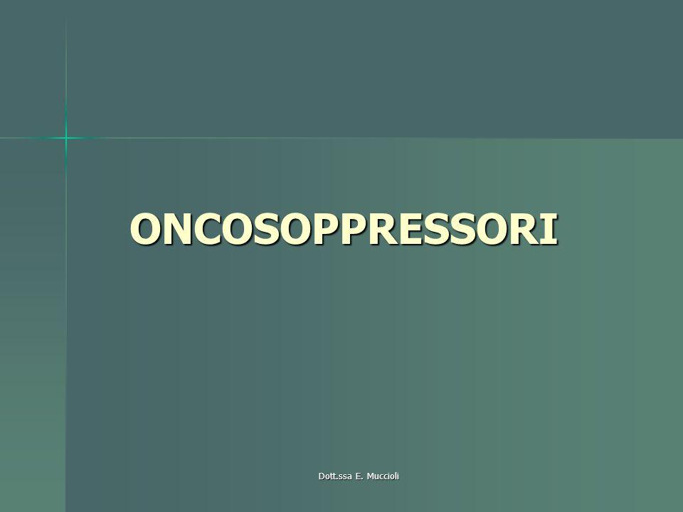 Dott.ssa E. Muccioli ONCOSOPPRESSORI