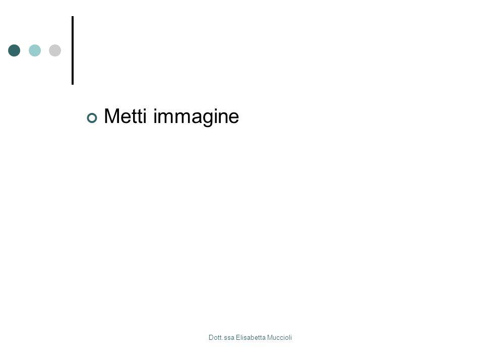 Dott.ssa Elisabetta Muccioli Metti immagine
