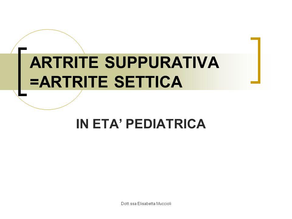 Dott.ssa Elisabetta Muccioli TERAPIA Multidisciplinare: pediatra, chirurghi ortopedici, radiologi TERAPIA CHIRURGICA ANCA: emergenza chirurgica !!.