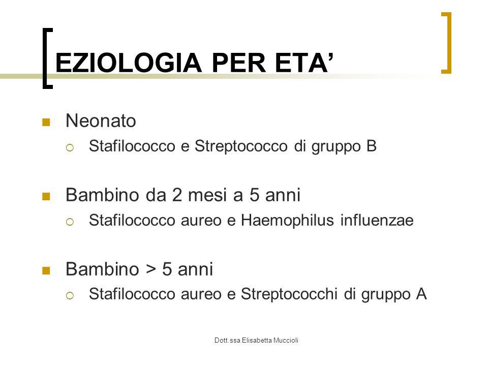 Dott.ssa Elisabetta Muccioli DD Artriti reattive post-infettive gastrointestinali o genitourinarie Malattia di Lyme : artrite non suppurativa, più simile a disordine reumatologico
