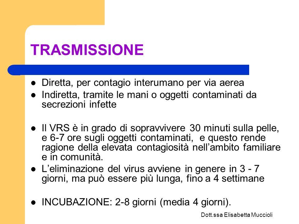 Dott.ssa Elisabetta Muccioli DECORSO CLINICO Durata della fase acuta della malattia: media 12 giorni.