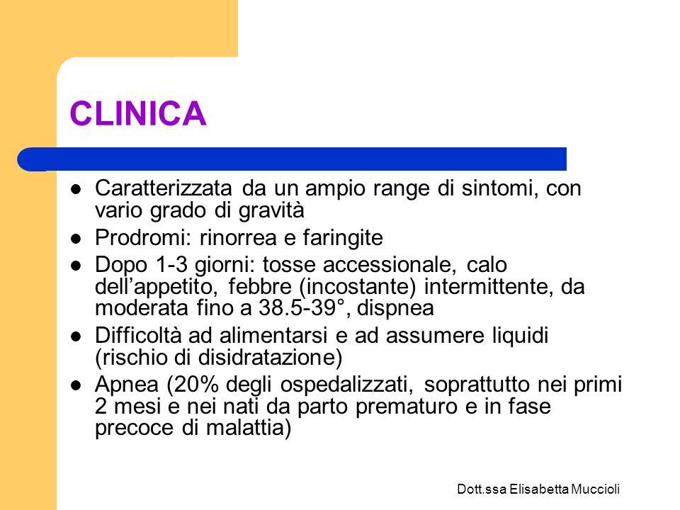 Dott.ssa Elisabetta Muccioli EFFICACIA DUBBIA somministrazione di una dose test con interruzione del trattamento se inefficace entro 15-30 minuti dalla inalazione ADRENALINA aerosol Inibisce secrezione bronchiale ed edema della mucosa Studi riportano efficacia scarsa o comunque transitoria Dose 0,25 mg/Kg/dose + SF fino a volume di 3-5 ml Durata effetto 2 ore Se efficace ripetere ogni 3-4 h NO in pz cardiopatici, aritmia Effetti indesiderati: tachicardia, pallore Monitorare : – FC e SatO2 – SNC (tremori, insonnia) – rene (ristagno vescicale) – metabolico (iperglicemia) SALBUTAMOLO aerosol Beta2 agonista Inefficace nel lattante – Alcuni AA : efficace in pz di 6-12 mesi con famigliarità per atopia, pregressa bronchiolite, wheezing RIBAVIRINA Solo per pz con documentata bronchiolite VRS positiva con grave quadro clinico e pz immunodepresso e/o patologie cardiopolmonari sottostanti