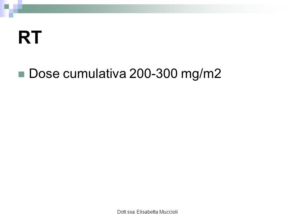 Dott.ssa Elisabetta Muccioli RT Dose cumulativa 200-300 mg/m2