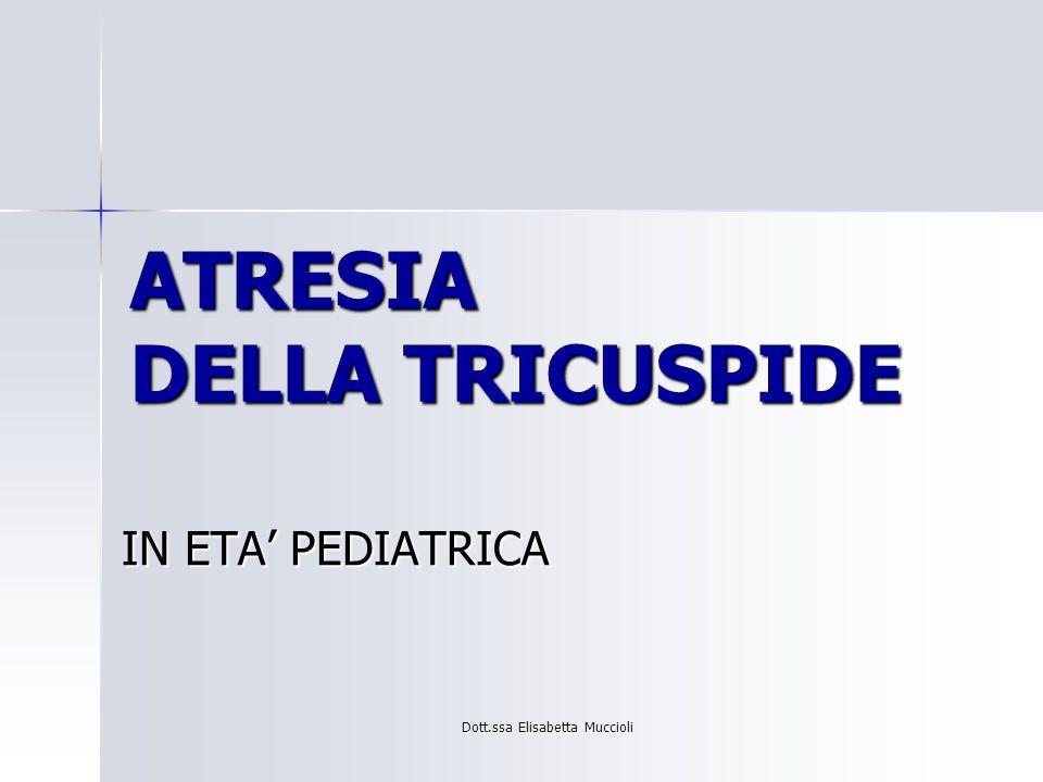 Dott.ssa Elisabetta Muccioli ATRESIA DELLA TRICUSPIDE IN ETA PEDIATRICA