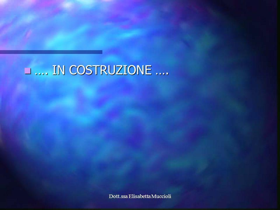 Dott.ssa Elisabetta Muccioli …. IN COSTRUZIONE …. …. IN COSTRUZIONE ….