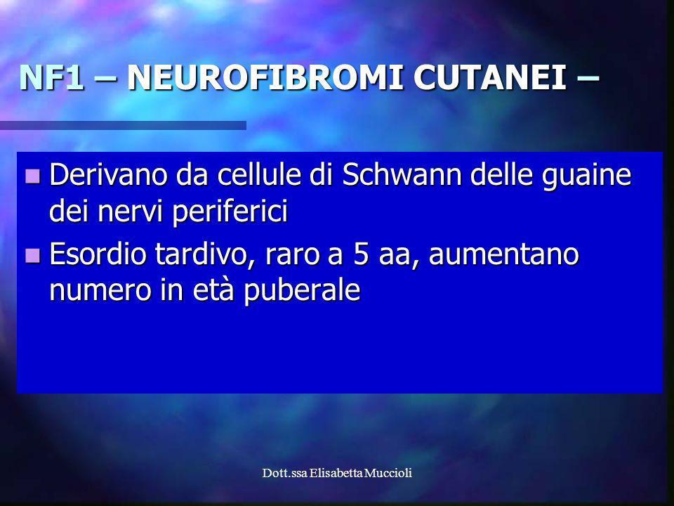 Dott.ssa Elisabetta Muccioli Derivano da cellule di Schwann delle guaine dei nervi periferici Derivano da cellule di Schwann delle guaine dei nervi pe