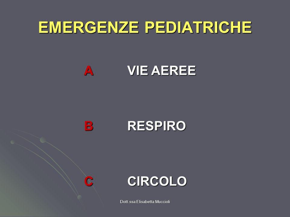 Dott.ssa Elisabetta Muccioli EMERGENZE PEDIATRICHE A VIE AEREE BRESPIRO CCIRCOLO