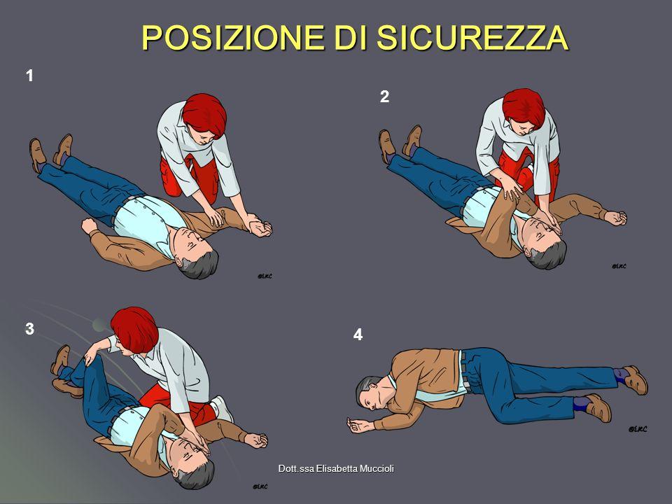 Dott.ssa Elisabetta Muccioli POSIZIONE DI SICUREZZA 4 1 3 2