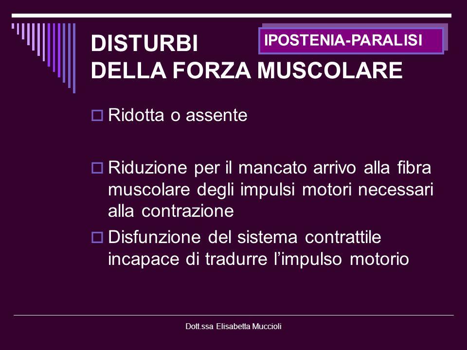 Dott.ssa Elisabetta Muccioli - Miastenie - Distrofie muscolari - Miotonie - Miopatie congenite - Miopatie metaboliche FIBRA MUSCOLARE -GENETICHE-
