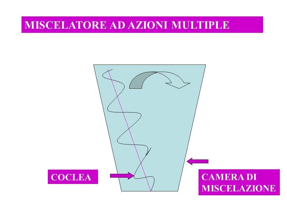 MISCELATORE AD AZIONI MULTIPLE COCLEA CAMERA DI MISCELAZIONE