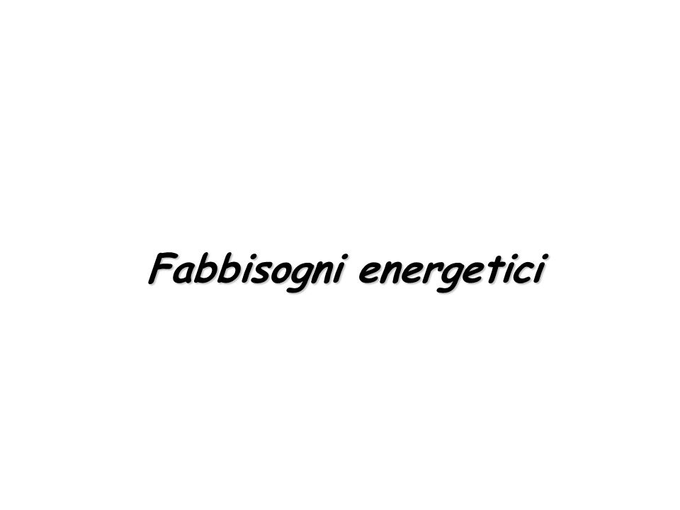 Fabbisogni energetici