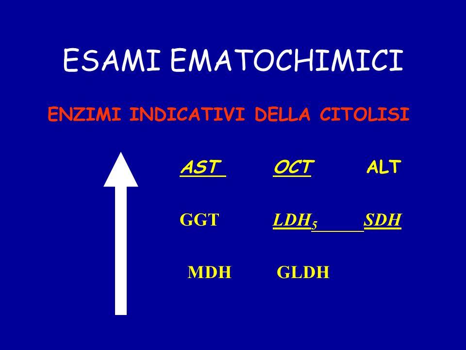 ESAMI EMATOCHIMICI ENZIMI INDICATIVI DELLA CITOLISI ASTOCTALT GGTLDH 5 SDH MDH GLDH