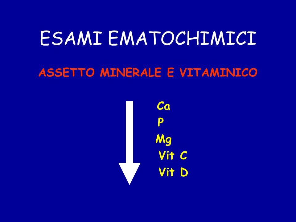 ESAMI EMATOCHIMICI ASSETTO MINERALE E VITAMINICO Ca P Mg Vit C Vit D