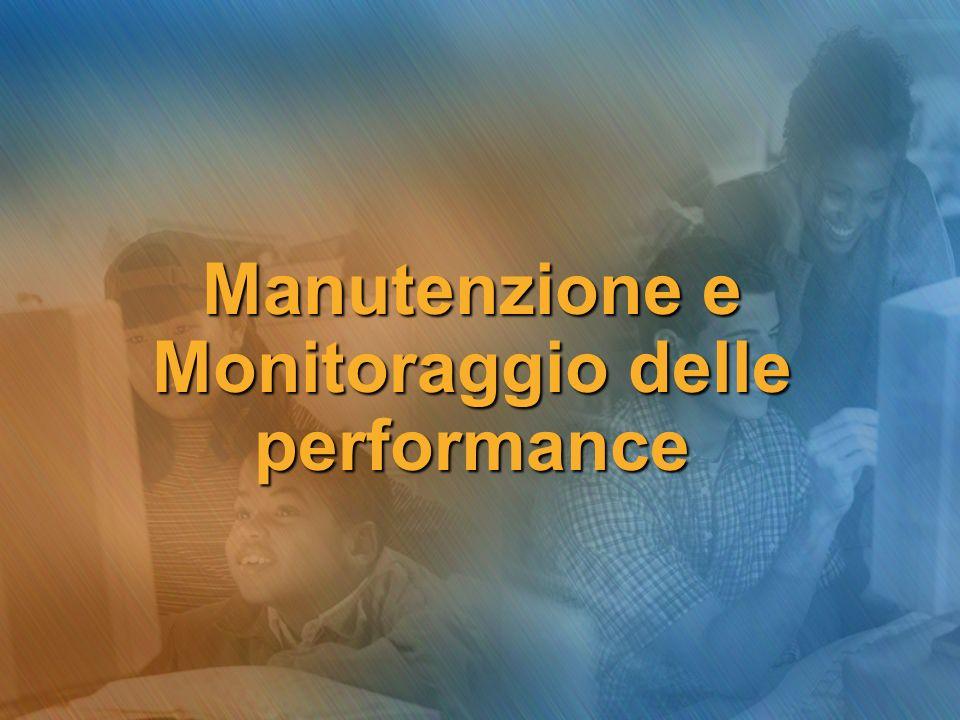 Creiamo un performance log Per impostare un registro con la misura delle prestazioni di un server, dobbiamo nel MMC Performance… continua…