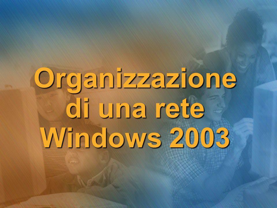 Organizzazione di una rete Windows 2003