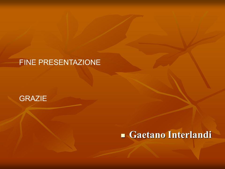 Gaetano Interlandi FINE PRESENTAZIONE GRAZIE
