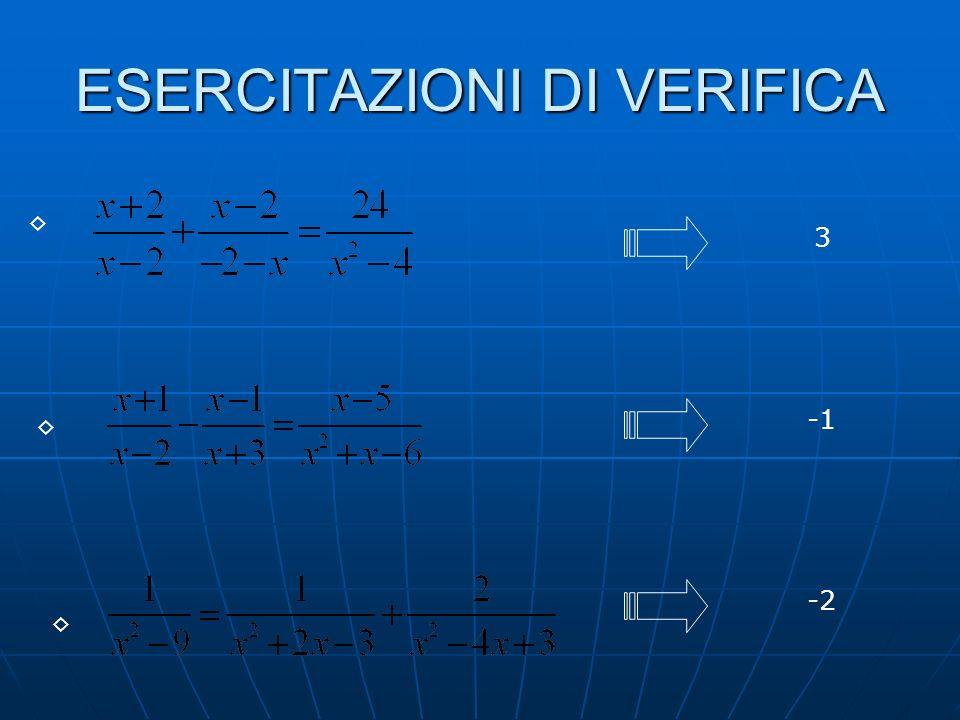 ESEMPIO DI EQUAZIONE NON ACCETTABILE Lequazione finale e quella iniziale sono equivalenti solo con la condizione x1.