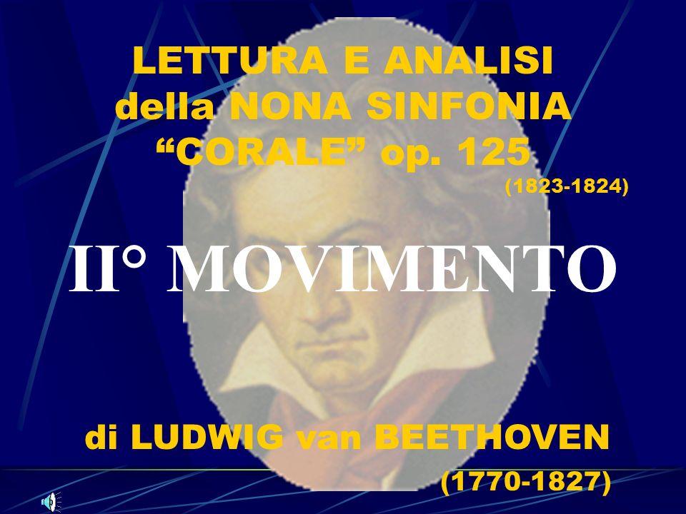 LETTURA E ANALISI della NONA SINFONIA CORALE op. 125 (1823-1824) II° MOVIMENTO di LUDWIG van BEETHOVEN (1770-1827)