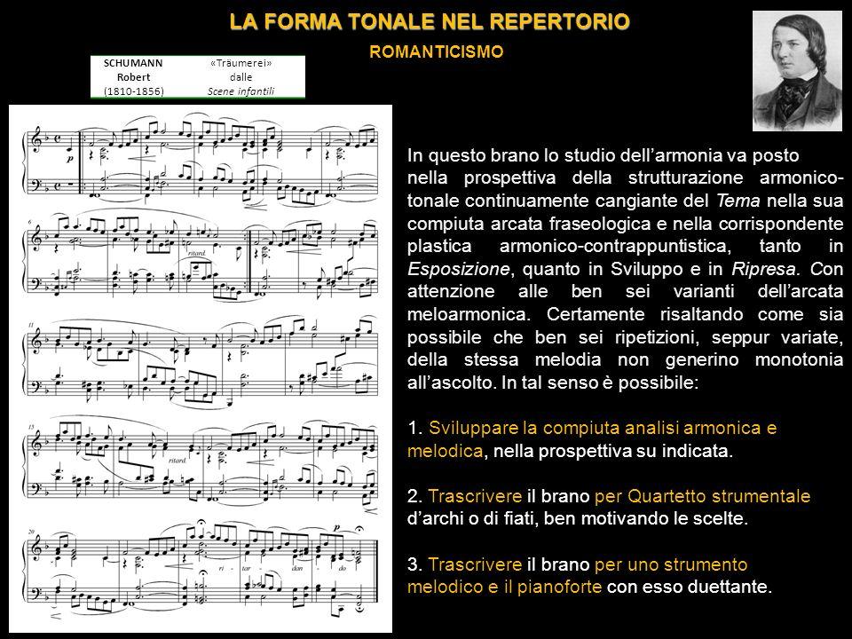 LA FORMA TONALE NEL REPERTORIO ROMANTICISMO BRAHMS Johannes (1833-1897) Valzer op.