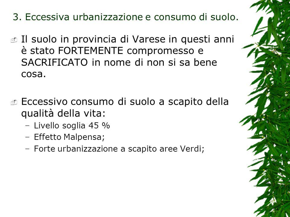 Il suolo in provincia di Varese in questi anni è stato FORTEMENTE compromesso e SACRIFICATO in nome di non si sa bene cosa.
