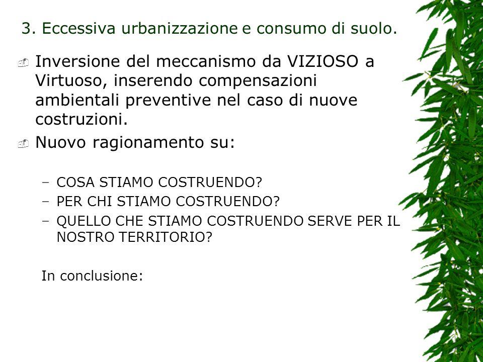 Inversione del meccanismo da VIZIOSO a Virtuoso, inserendo compensazioni ambientali preventive nel caso di nuove costruzioni.