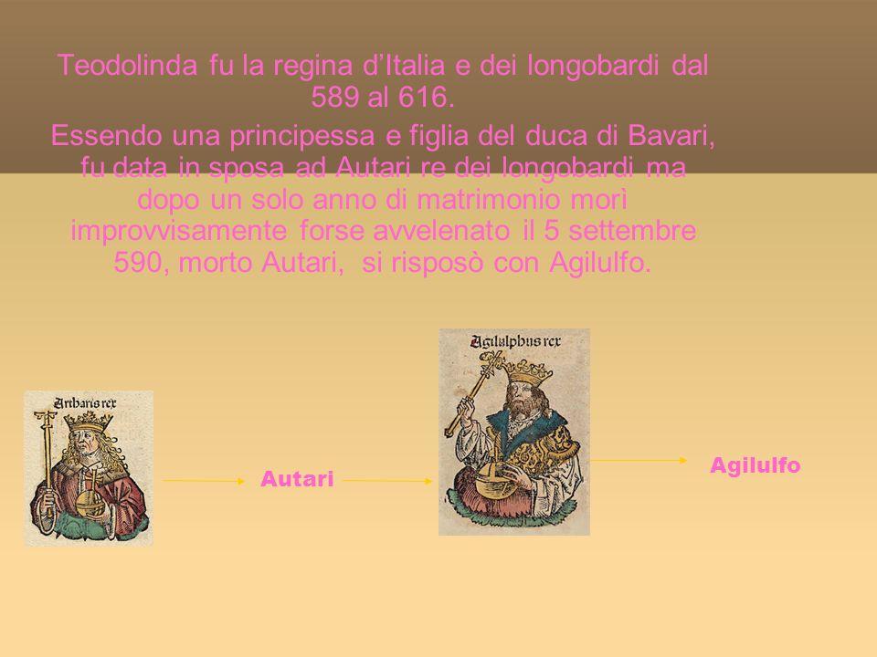 Teodolinda fu la regina dItalia e dei longobardi dal 589 al 616.