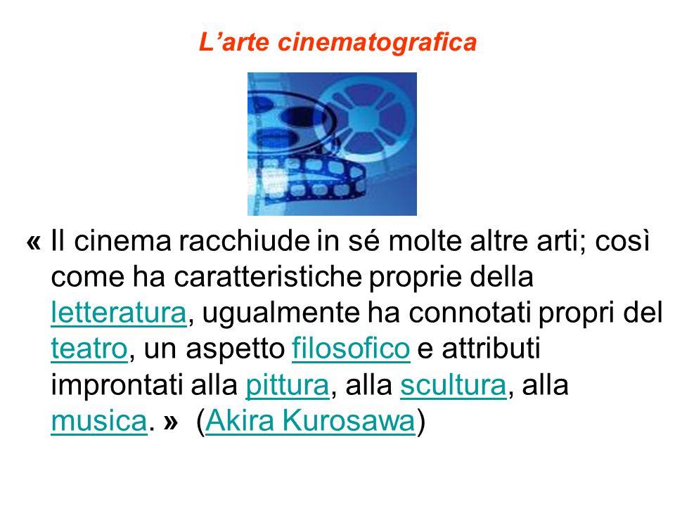 Larte cinematografica « Il cinema racchiude in sé molte altre arti; così come ha caratteristiche proprie della letteratura, ugualmente ha connotati pr