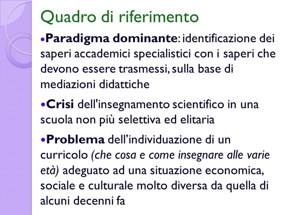 I concetti elementari dellorganizzazione specialistica delle discipline scientifiche siano tuttaltro che elementari sul piano epistemologico e psicologico.