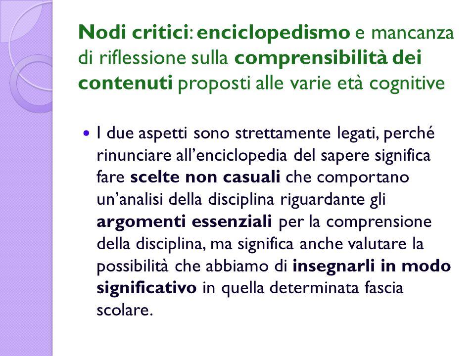 Una proposta di curricolo per i fenomeni fisico-chimici SCUOLA PRIMARIA 1.