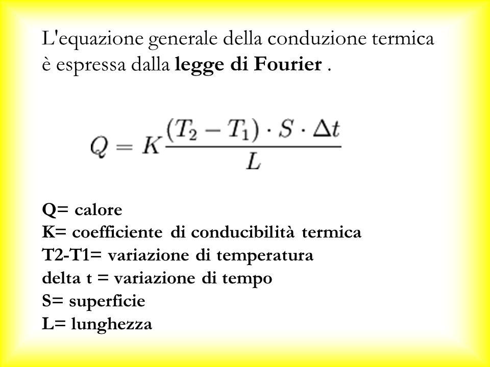 L equazione generale della conduzione termica è espressa dalla legge di Fourier.