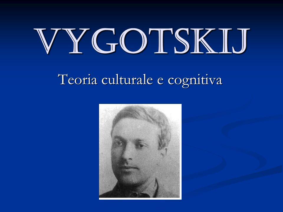 Vygotskij Teoria culturale e cognitiva