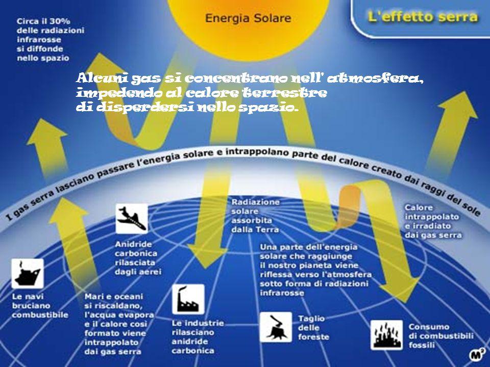 Se continuiamo a immettere questi gas nell atmosfera la temperatura aumenterebbe nei prossimi 50/100 anni.