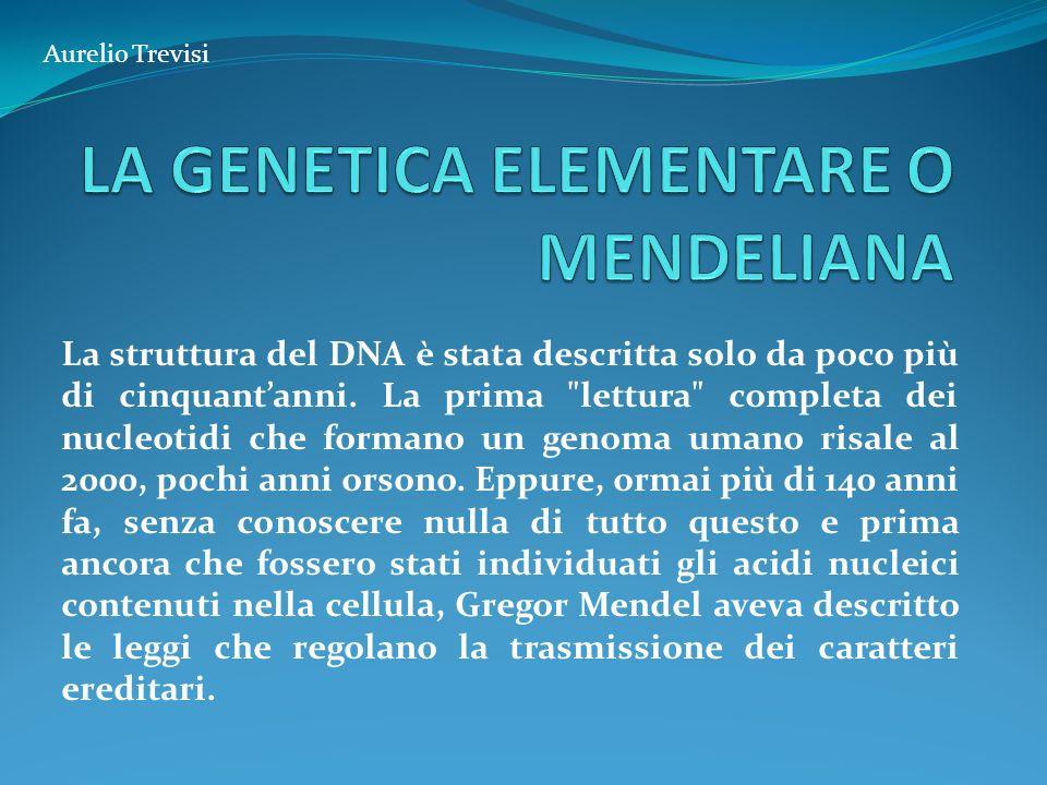 La struttura del DNA è stata descritta solo da poco più di cinquantanni. La prima