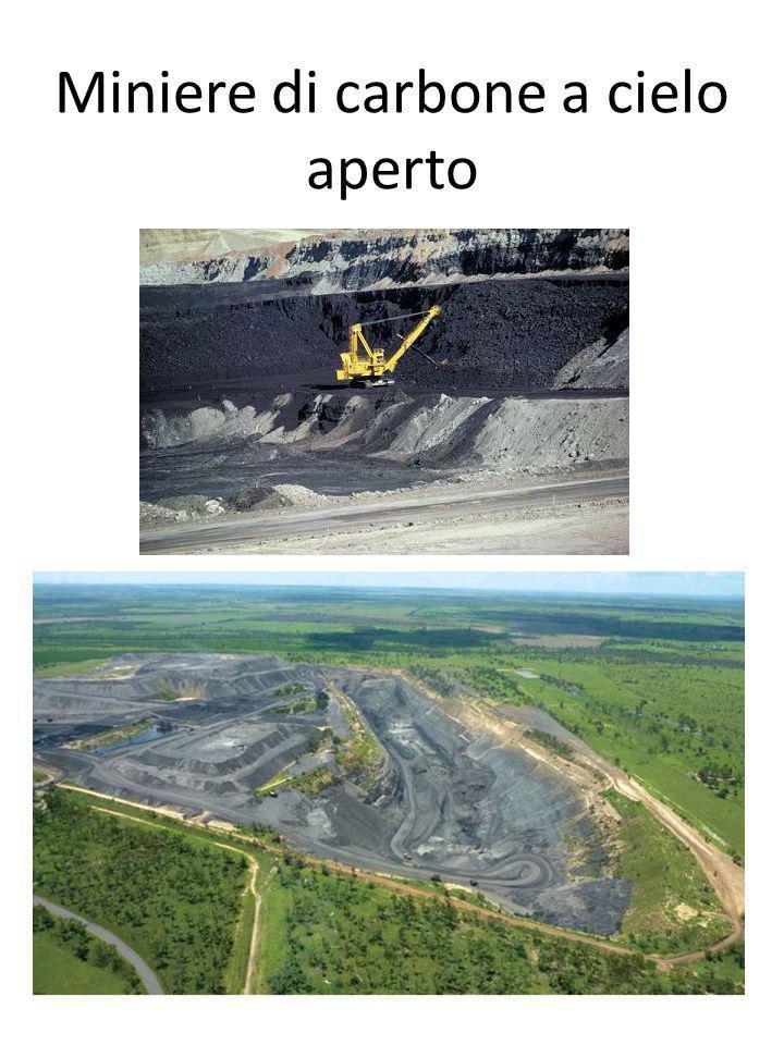 Miniere di carbone a cielo aperto