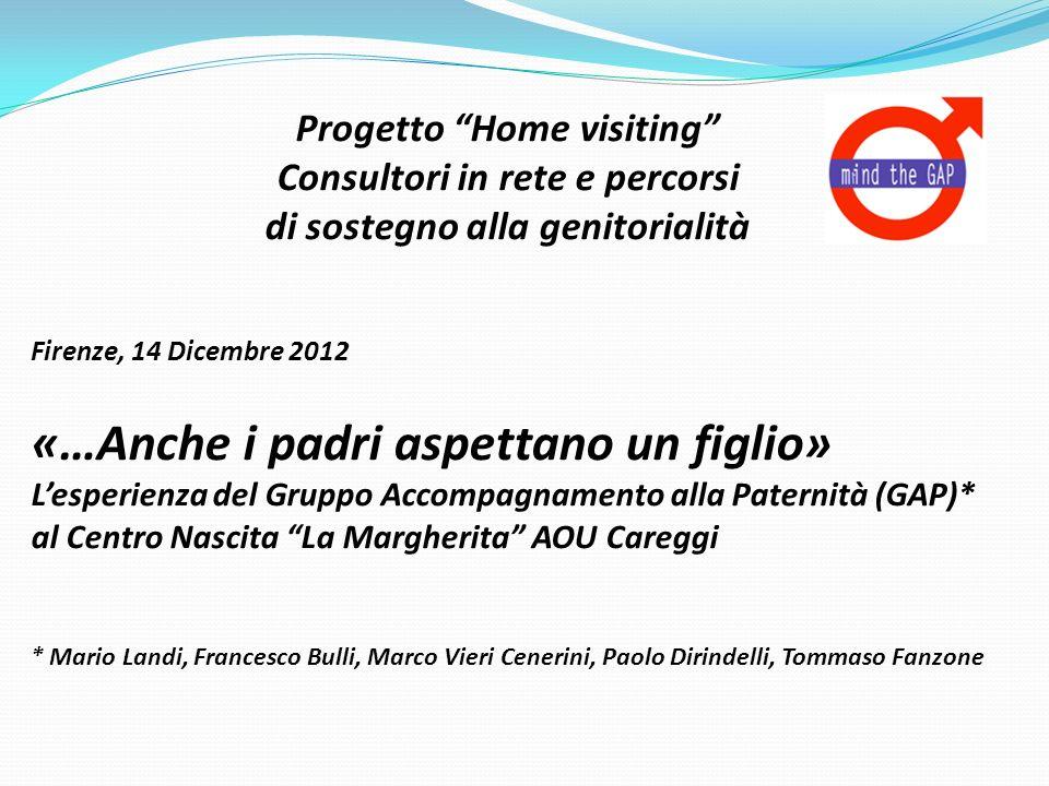 Progetto Home visiting Consultori in rete e percorsi di sostegno alla genitorialità Firenze, 14 Dicembre 2012 «…Anche i padri aspettano un figlio» Les