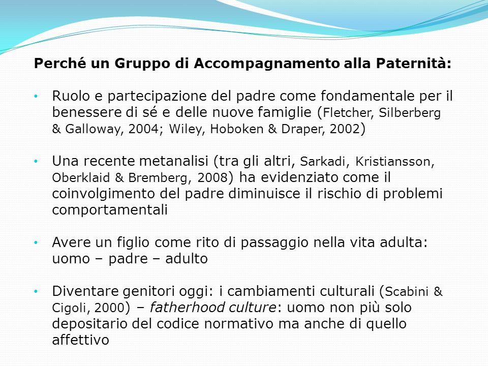 Perché un Gruppo di Accompagnamento alla Paternità: Ruolo e partecipazione del padre come fondamentale per il benessere di sé e delle nuove famiglie (